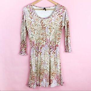 Stetson Patterned 3/4 Sleeve Dress Size Small
